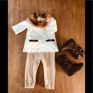 Janie and Jack Gitl Winter Outfit
